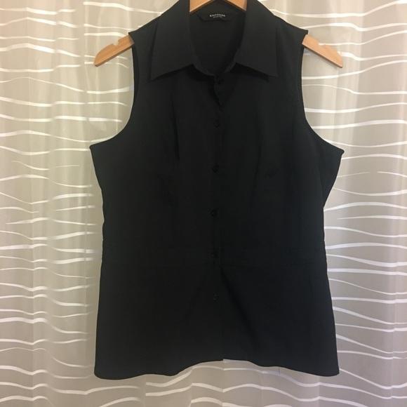 Express Tops - Black sleeveless buttoned shirt